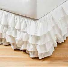 Girls Bed Skirt by Shabby White Chic Ruffled Tier Flamenco Single Valance Bed Skirt