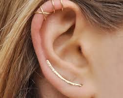 ear climber earrings set of 3 ear climber ear cuff ear cuff earring etsy