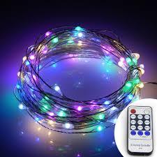 led string lights 100 led starry lights on 10m silver coating