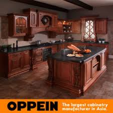 Luxury Kitchen Cabinets Manufacturers China Hot Sale Classic Solid Wood Luxury Kitchen Cabinets With