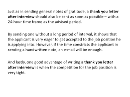 thank you letter after