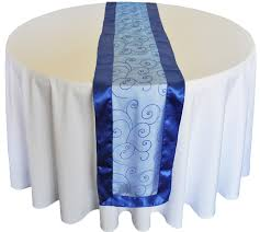 navy blue table runner rental organza table runners for round tables round designs