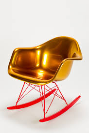 vitra eames rocking chair by charles u0026 ray eames gold laquer