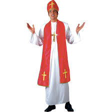 mens pope holy cardinal fancy dress halloween costume xs stock