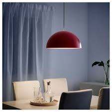 Red Pendant Light by Ikea 365 Brasa Pendant Lamp Red 45 Cm Ikea