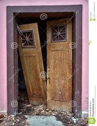 Keyhole Doorway Old Broken Doors Stock Photo Image 67393074