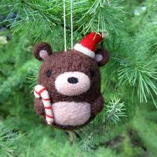Teddy Bear Christmas Tree Ornaments by Shop Needle Felted Teddy Bear On Wanelo