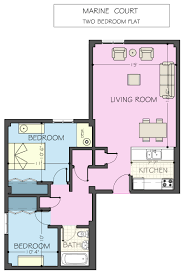 Two Bedroom Flat Floor Plan Marine Court Apartments Housing Dining Services University