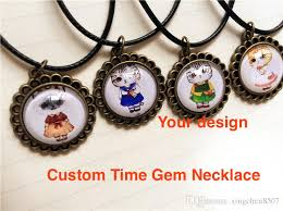custom necklace pendants wholesale customized time gem necklace pendant small quantity