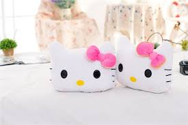 2pcs free shipping cute car neck pillow pink bowk kitty