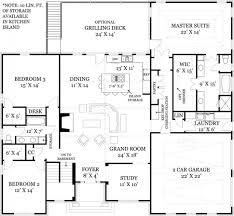 great room floor plans single story astounding ideas 50 single story house plans with balcony open