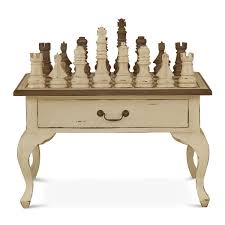 gentleman u0027s chess table 2 drawer w chess set
