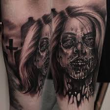 121 best zombie tattoos 2 images on pinterest zombie tattoos
