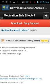 sopcast android apk sopcast for android sopcast for android