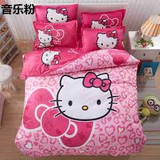Hello Kitty Duvet Home Textile Hello Kitty Bedding Set Cartoon Cotton Bed Set For