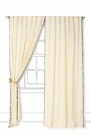 Anthropologie Ruffle Shower Curtain by Possible To Add Red Pom Pom Trim Pom Pom Curtains For The Bun