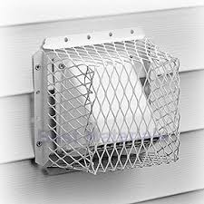 dryer bathroom vent guard 7x7x5 id stainless steel white