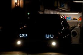 bmw headlights at night angel eyes stock bulb upgrade help bimmerfest bmw forums