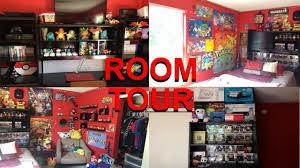 nintendo gaming room tour youtube