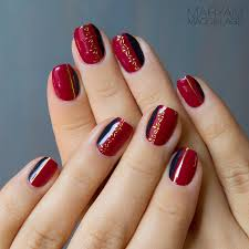 27 red nail design try my hand 15 day nail challenge day 9
