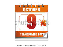 canadian thanksgiving day 2017 october 9 stock vector 719349424