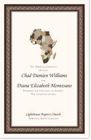 Church Programs Template African Wedding Program Template Jumping The Broom Ceremony