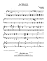 easter song arr choral satb sheet by by