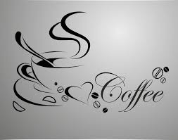 coffee cup free shipping vinyl quote removable wall stickers diy