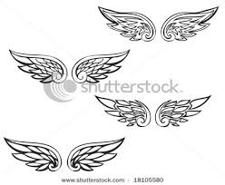 image result for simple wings tattoos