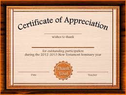 certificates of appreciation templates best u0026 professional templates