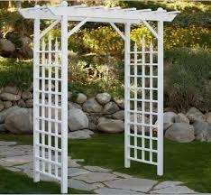 wedding arches on ebay white garden arbor arch pergola gate 7 foot vinyl bridal trellis