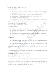 Flight Attendant Job Description For Resume by Fitness Consultant Cover Letter