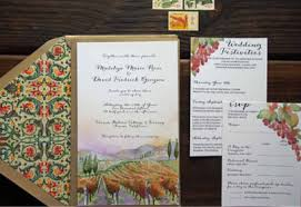 vineyard wedding invitations vineyard watercolor wedding invitations