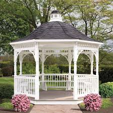 Discount Gazebos by Wood U0026 Vinyl Garden Gazebos Amish Made Structures Penn Dutch
