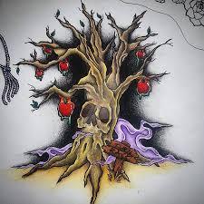 skulls poison apple tree by amandamallory42 on deviantart