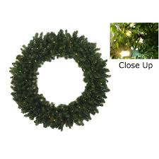 30 pre lit battery operated canadian pine wreath