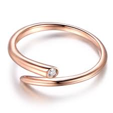 wedding band solid 14k gold engagement ring unique