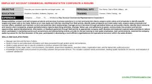 key account commercial representative corporate a cover letter