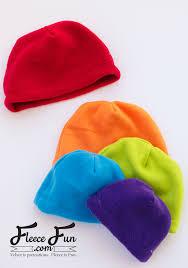 basic fleece hat pattern and tutorial fleece fun