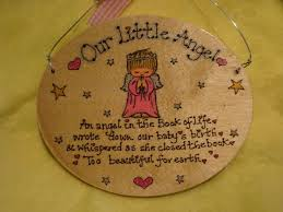 baby plaques beautiful for earth angel baby memorial oval wooden sign