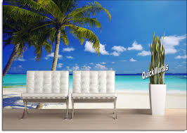 tropical ocean peel stick canvas wall mural create your own scenic outdoor landscape with your choice of our beautiful wall murals they re the perfect solution to the room with no view