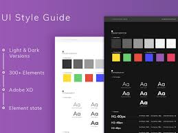 adobe xd free ui style guide template psddd co