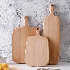 planche en bois cuisine en bois planche à découper de cuisine billot 3 tailles