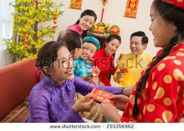 tet envelopes exchanging envelopes tet stock photo