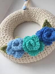 home decoration handmade round handmade crochet flower decorated wreath wall or door