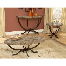 hillsdale furniture monaco matte espresso marble top coffee table