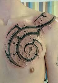 3d tribal chest tattoo best tattoo ideas u0026 designs tattoos
