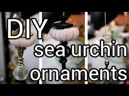 how to make sea urchin ornaments diy