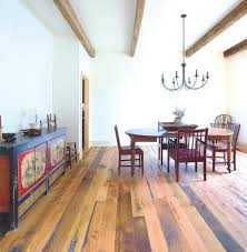 refinishing oak hardwood floors dining room rustic with reclaimed