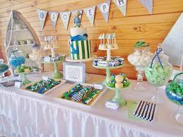 Nautical Themed Baby Shower Banner - nautical green and blue chevron party planning ideas cake supplies